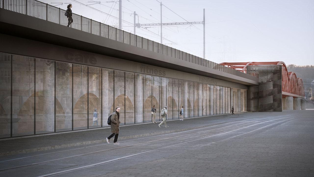 Možná nová podoba železničního mostu v Praze na Výtoni.