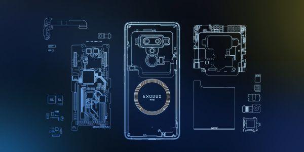 HTC Exodus se chlubí průhledným krytem a podporou kryprtoměn