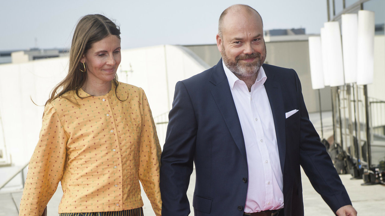 Bestseller-owner Anders Holch Povlsen and his wife Anne Holch Povlsen arrive at the celebration of the 50th birthday of Crown Prince Frederik of Denmark in Royal Arena in Copenhagen