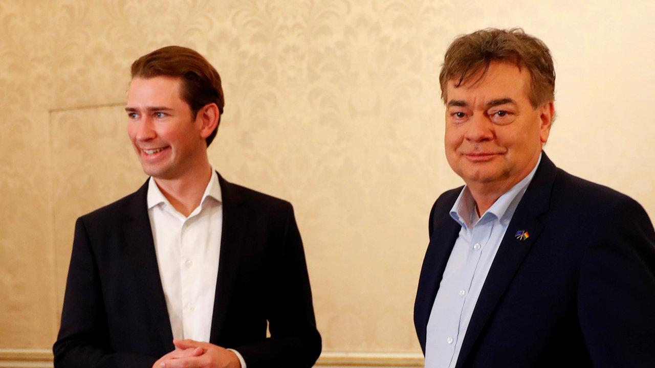 Šéfové rakouských lidovců a Zelených – Sebastian Kurz a Werner Kogler.
