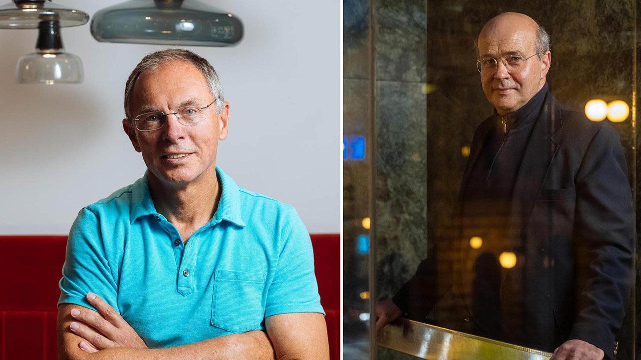Ekonom Jan Švejnar a investiční bankéř Ondřej Jonáš