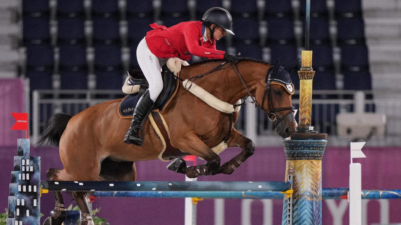 Anna Kellnerová ve kvalifikaci na olympijských hrách v Tokiu