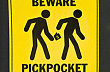 beware of pickpockets