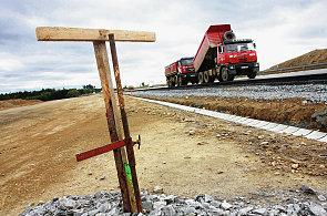Stavba dálnice - Ilustrační foto