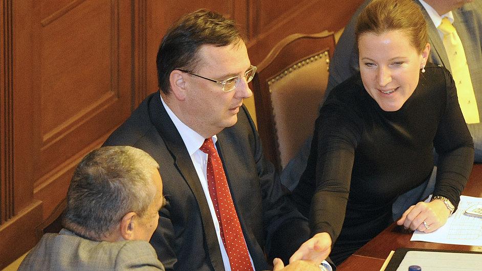 Karel Schwarzenberg, Petr Nečas a Karolína Peake
