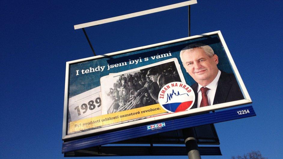 Billboard Miloše Zemana