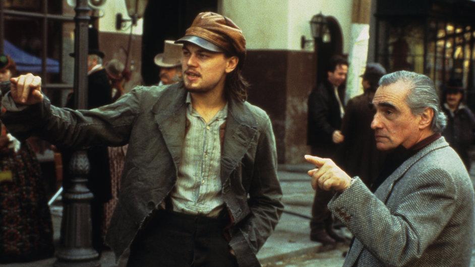 Leonardo DiCaprio (vlevo) s režisérem Martinem Scorsesem při natáčení filmu.