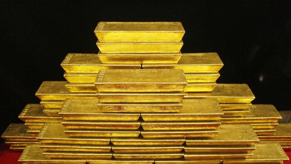 Cihly zlata. Ilustrační foto