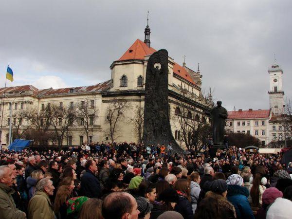 Náměstí Tarase Ševčenka ve Lvovu