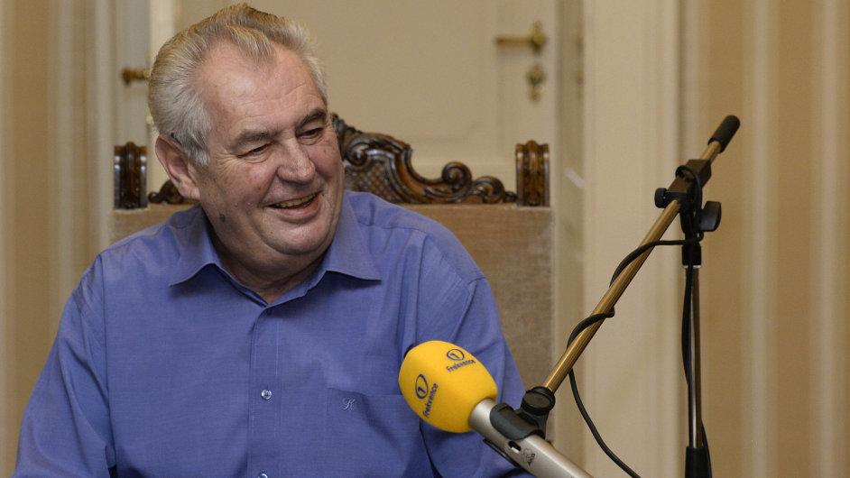 Prezident Miloš Zeman v prvním Prezidentském Pressklubu