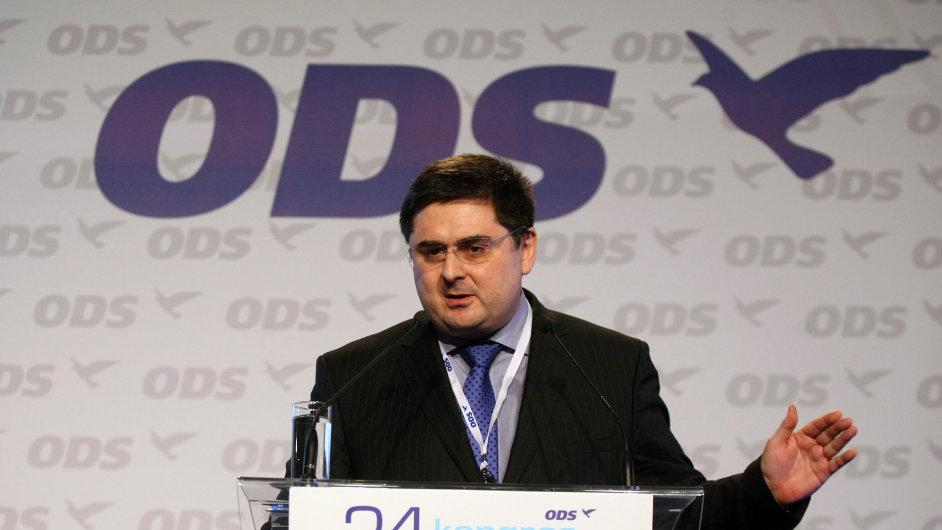 Martin Novotný na kongresu ODS.