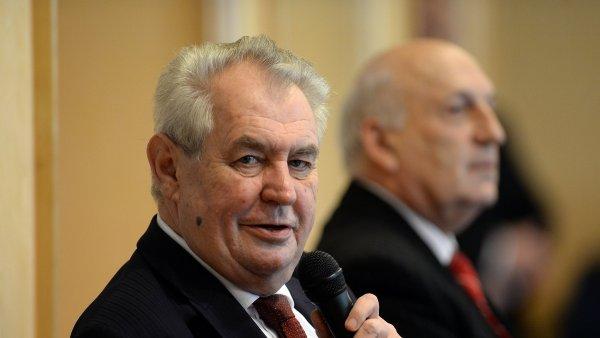 Prezident Miloš Zeman během své návštěvy Plzeňského kraje.