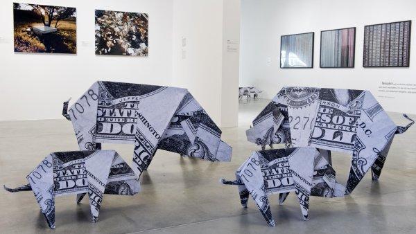 Snímek z výstavy Duše peněz