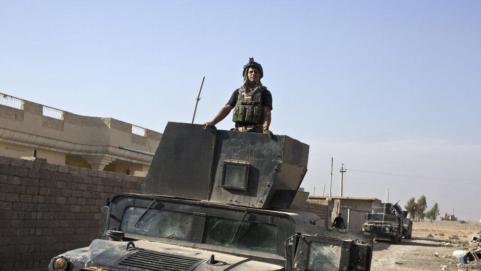 Irácké speciální jednotky při dobývání Mosulu.