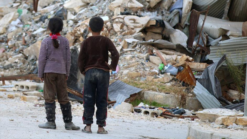 Sýrie, Aleppo.