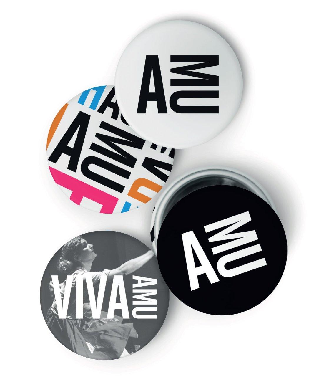 Ukázka nového loga a vizuálního stylu AMU