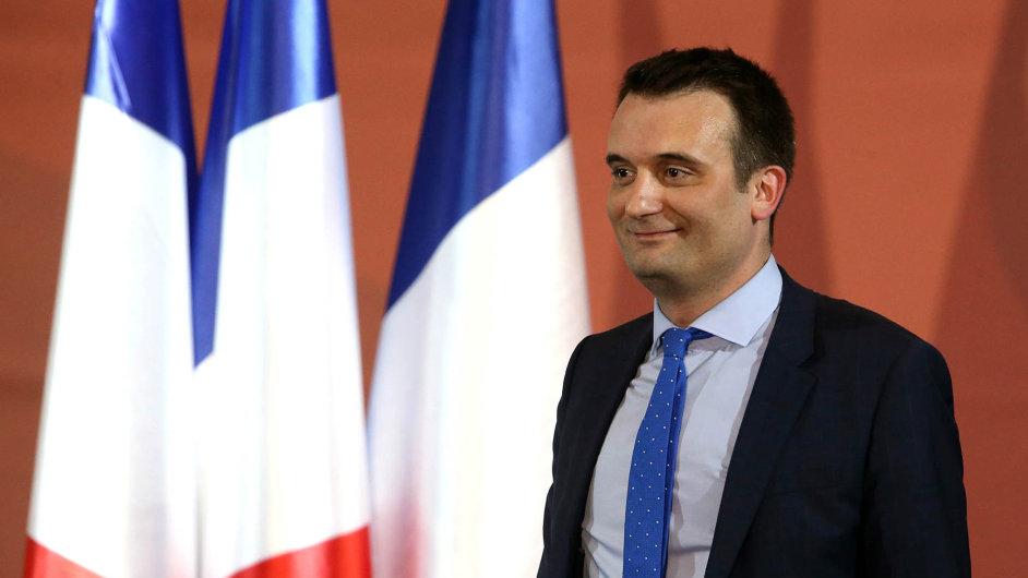 Florian Philippot, blízký spolupracovník Marine Le Penové, šéfky francouzské Národní fronty.