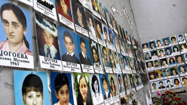 Fotografie obětí z Beslanu.