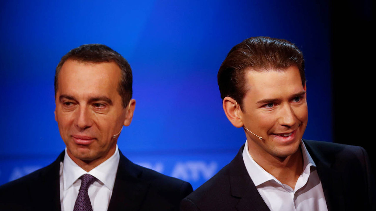 Já povedu Rakousko! Zleva: Kancléřem chce být sociální demokrat Christian Kern i lidovec Sebastian Kurz.