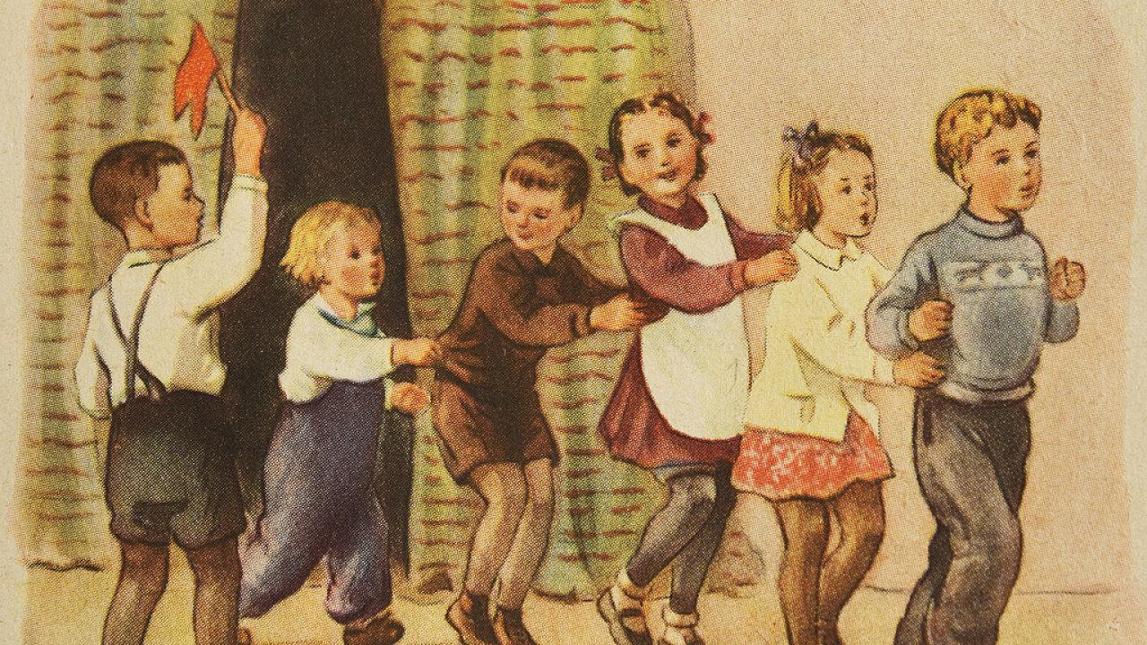 """""""Společná hra dává průchod přirozeným potřebám dítěte v bodré a radostné činnosti."""" - Ilustrační obrázek"""