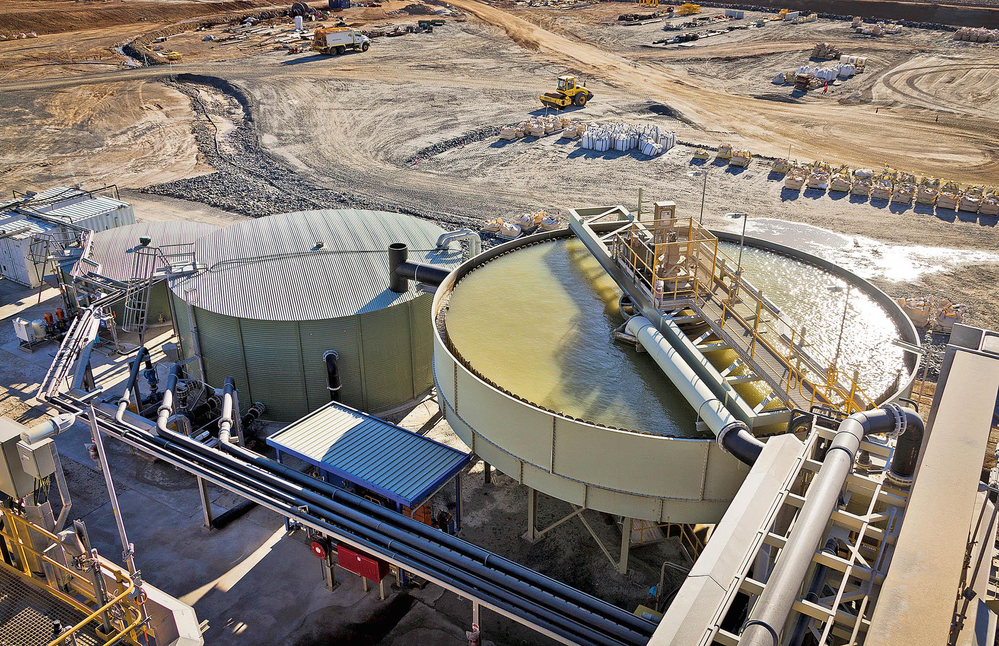 Galaxy Mining, zařízení na těžbu a zpracování lithia v Ravensthorpe na západě Austrálie