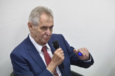 Prezident Miloš Zeman vyráží na prázdniny.