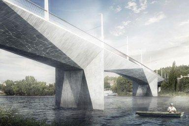 Praha vybrala návrh mostu přes Vltavu mezi Prahou 4 a Prahou 5. Propojí Lihovar a Dvorce