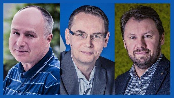 Karel Branda, Petr Bělina a Radim Šponar, management koncernu Trigema