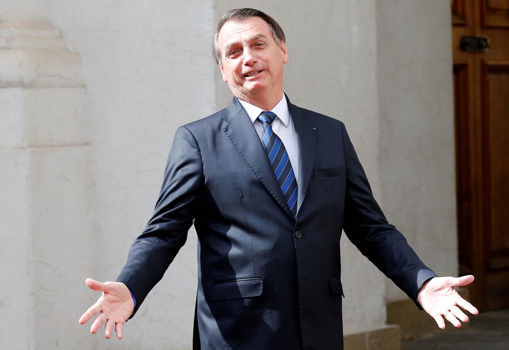 Jair Messias Bolsonaro. Současný prezident Brazílie.