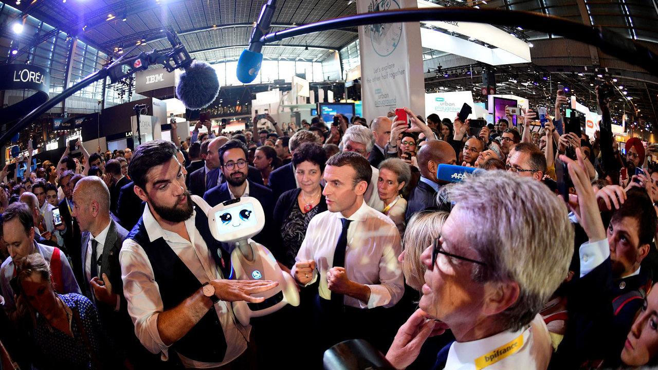 Prezident atechnologie: Emmanuel Macron se snaží udržet veFrancii inovativní technologické firmy.