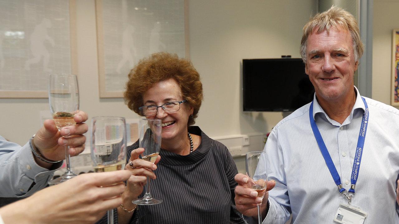 Peter J. Ratcliffe krátce po vyhlášení - Nobelova cena za fyziologii a lékařství 2019