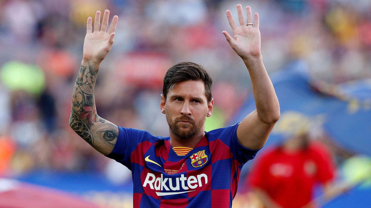 Jeden znejslavnějších fotbalistů světa, argentinský záložník Lionel Messi, nastoupí vPraze kutkání Ligy mistrů.