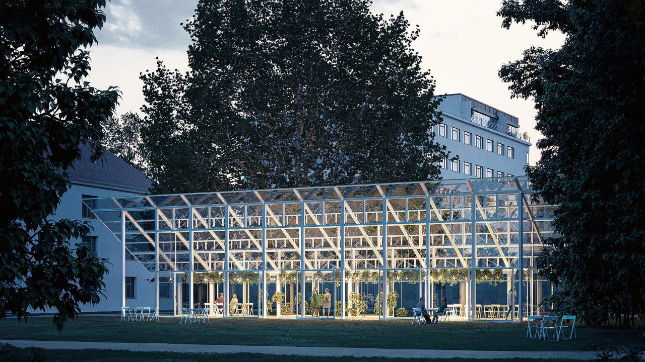 Vizualizace obnoveného Mendelova skleníku v Brně