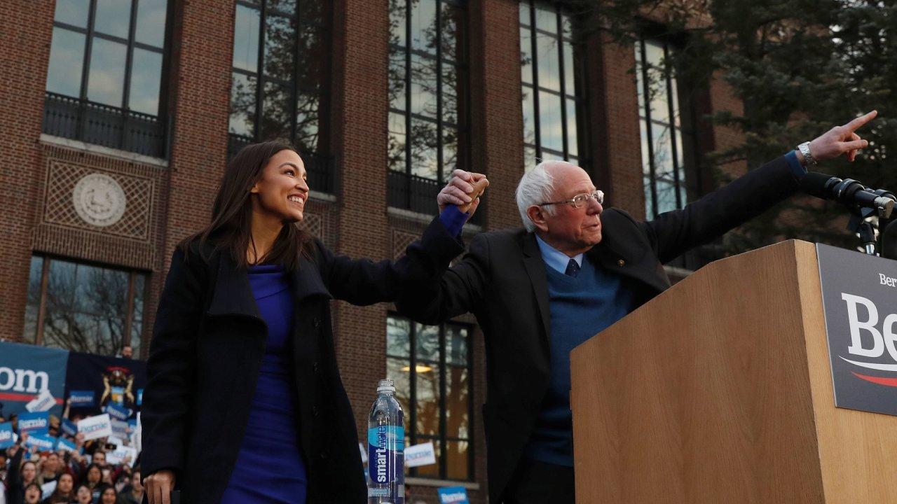 Alexandria Ocasio-Cortez, AOC, Bernie Sanders
