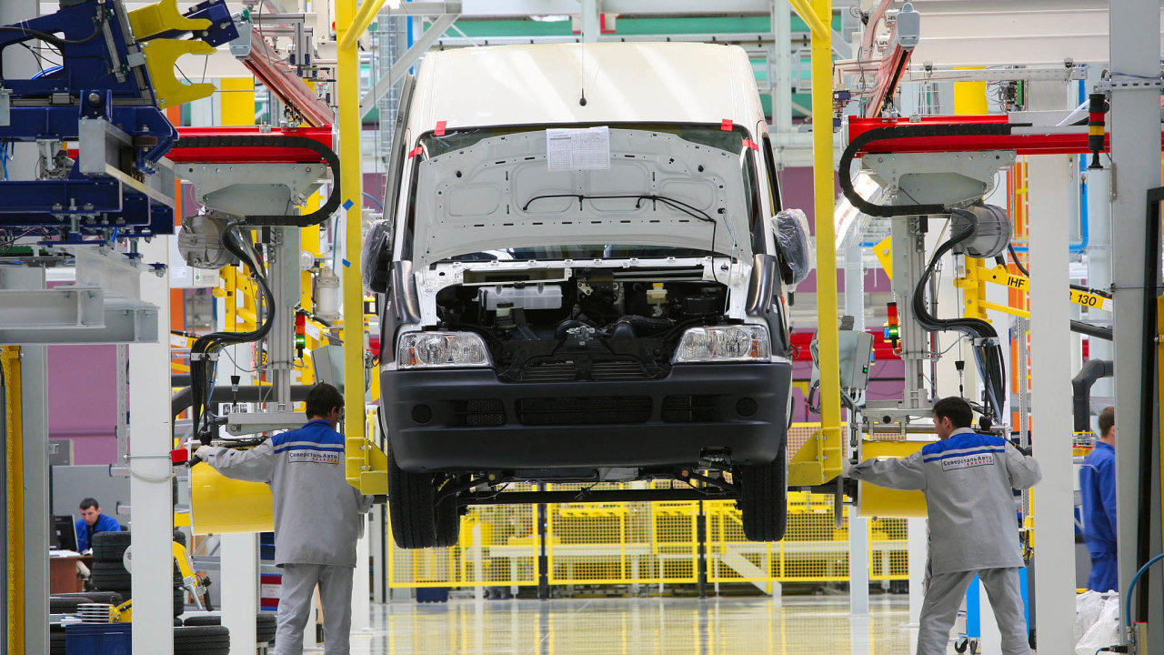 Klíčový model Fiat Ducato se vyrábí například veměstě Jelabuga vRusku.
