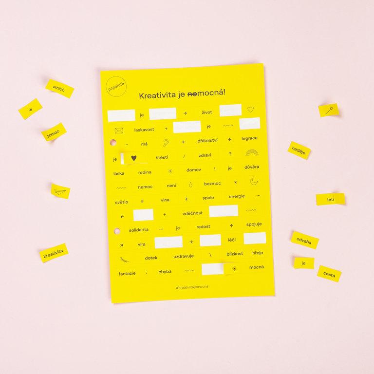 Samolepky od papírnictví Papelote