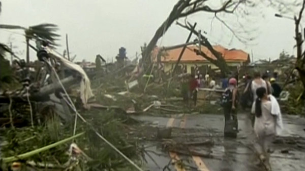 Bouře na Filipínách. Ilustrační foto