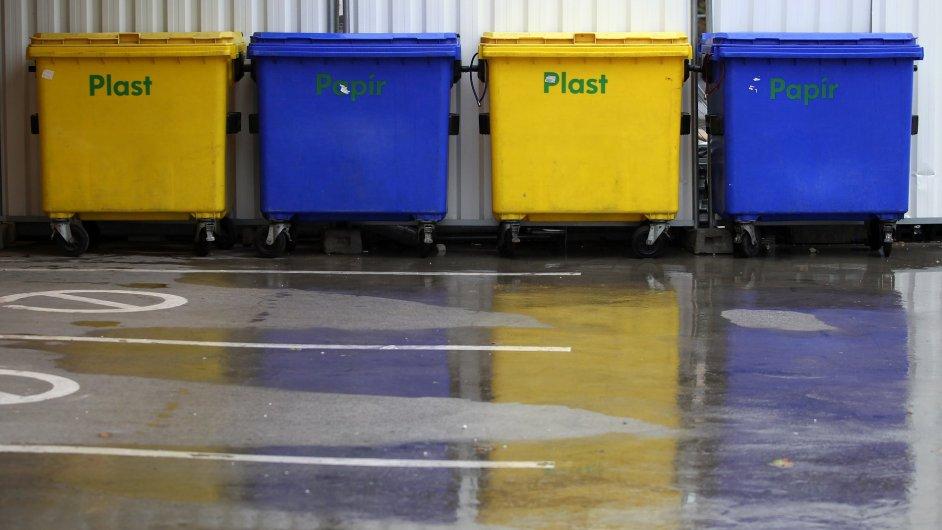Popelnice, tříděný odpad