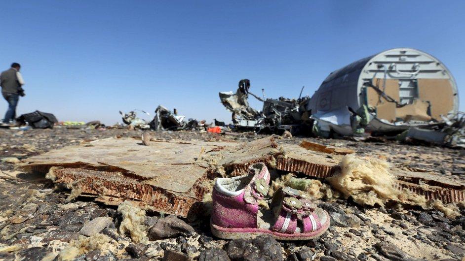 Záběr z místa letecké nehody