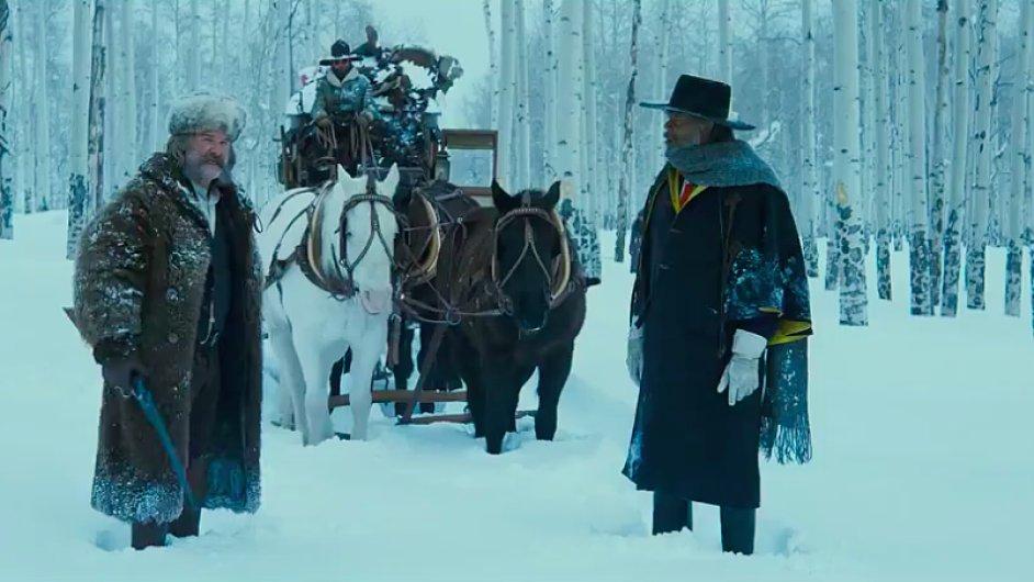 Snímek, v angličtině nazvaný The Hateful Eight, do českých kin vstoupí 7. ledna.