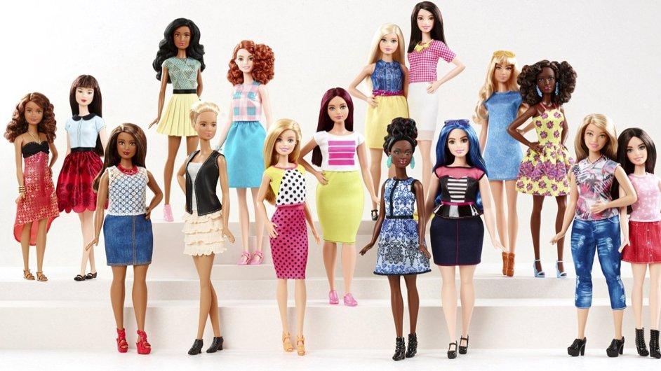 Panenka Barbie získala nové účesy i konfekční velikosti.