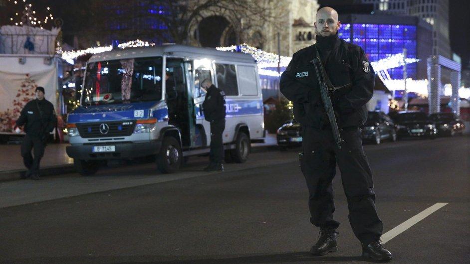 Německo, policie, terorismus.