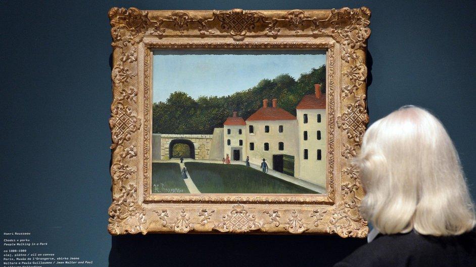 Snímek z výstavy Henriho Rousseaua