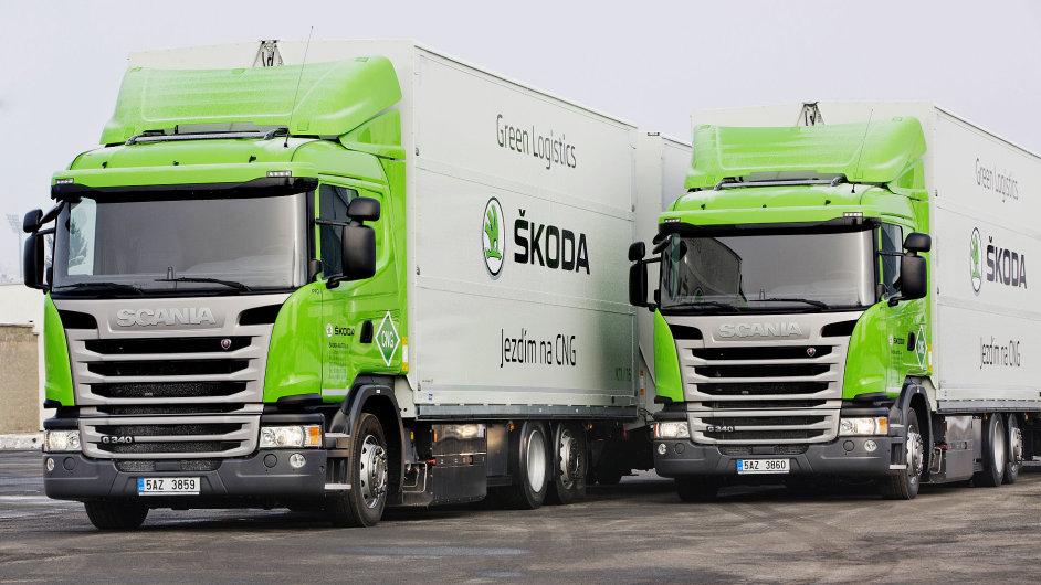Škoda nasazuje kamiony na CNG