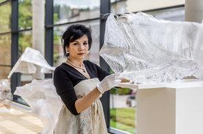 Galerie v Trutnově vystavuje díla Ireny Jůzové, pracují s leskem a odrazy světla