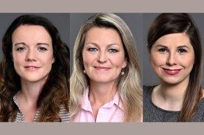 Iveta Valentová, Jitka Žákovská a Daniela Bartáková, oddělení Asset Services CBRE