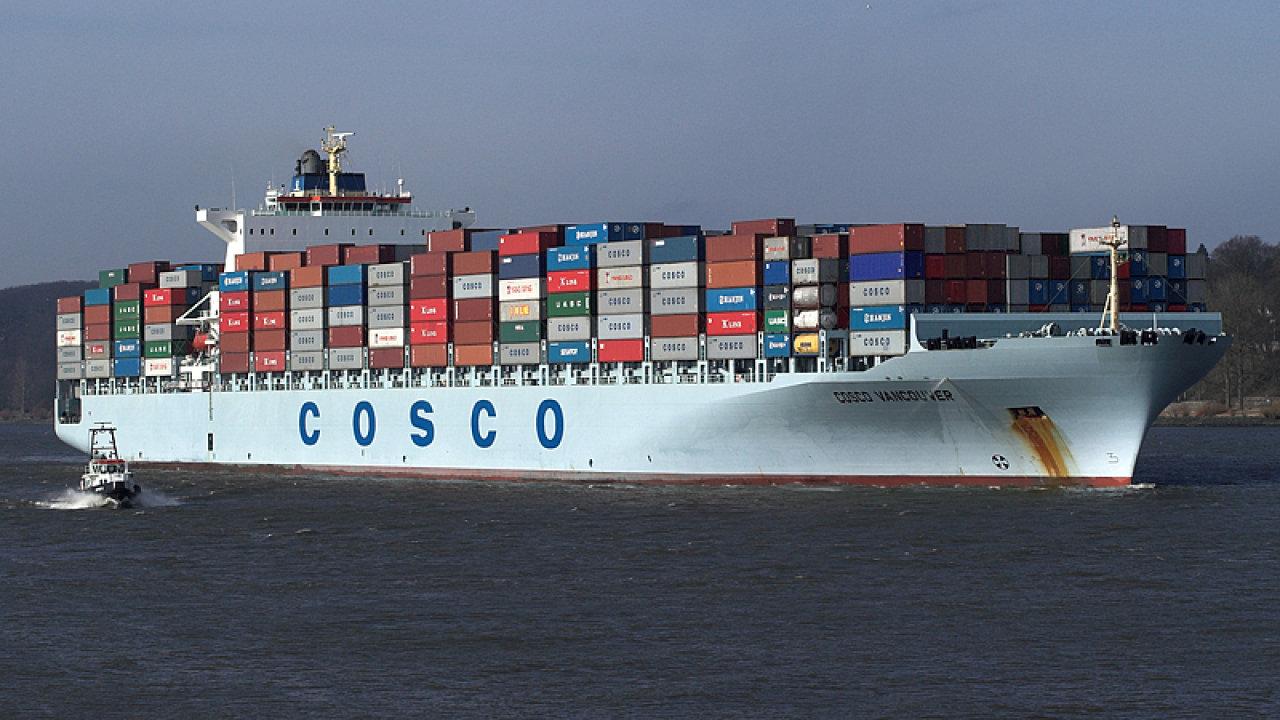 Kontajnerová loď Cosco Vancouver - ilustrační foto