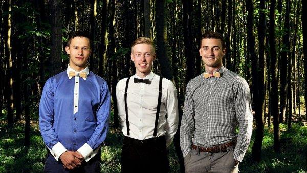 Pánské trio v čele BeWooden: zleva Jakub Najdek, Ctirad Sára, Patrik Babinec.