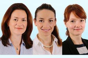 Jana Vlková, Lucie Veselá a Michaela Křikavová, český tým specializovaný na kancelářské nemovitosti Colliers International