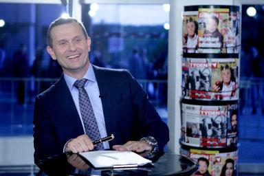 Jaromír Soukup, majitel TV Barrandov a agentury Médea, ve svém pořadu Duel Jaromíra Soukupa.